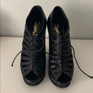 Yves Saint Laurent Wedge Sandals